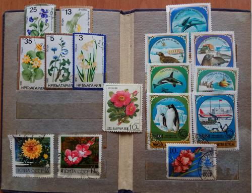 Мини-коллекция марок (Монголия, Болгария, Сев.Корея, СССР), 16 шт.