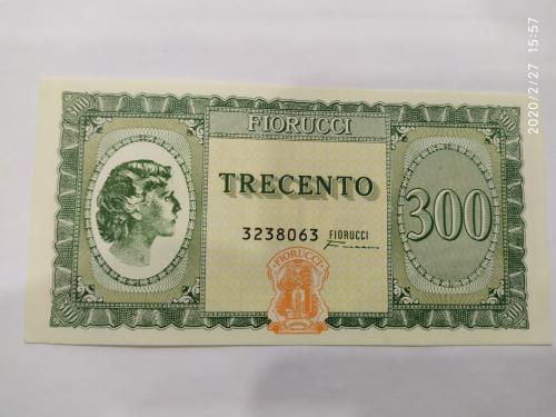 Чек Fiorucci 300 Lire 1970