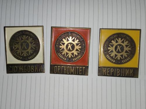 Значки состава организаторов 2 зимних сельских спортивных игр