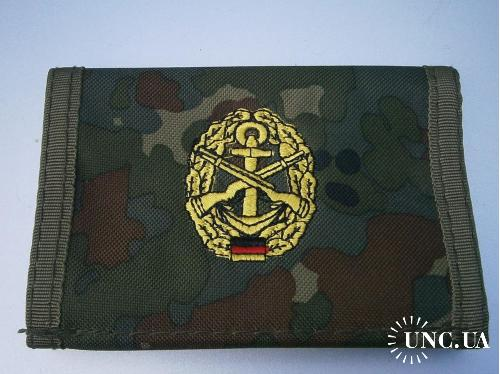 Бумажник армейский. Бундесвер, морская пехота , флектарн.