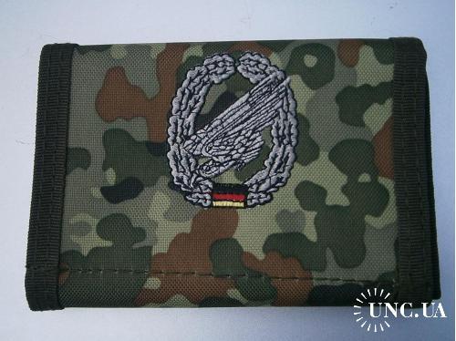 Бумажник армейский. Бундесвер, воздушно-десантные части , флектарн.