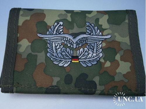 Бумажник армейский. Бундесвер, ВВС, Luftwaffe, флектарн.
