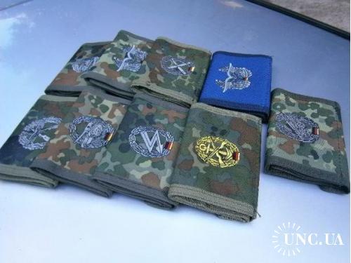 Бумажники армейские, Бундесвер, по родам войск с вышитой эмблемой.