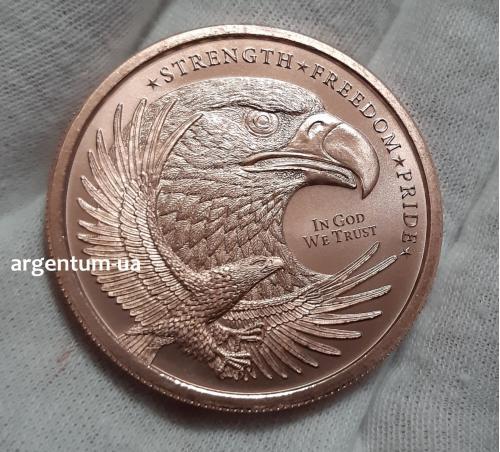 IFA - 2020 * Орел - Eagle *  1 Oz Унція .999 проба Мідь - Мідна Монета - Медь Раунд GSM - США