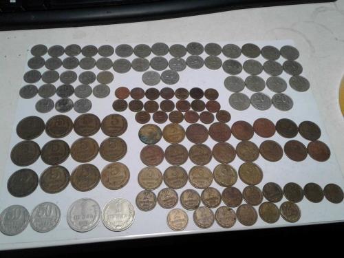 126 монет 1961-1991 разного номинала и годов выпуска (без повторов)