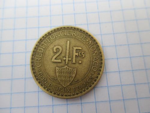 2 франка 1926 г. Монако