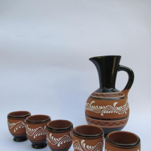 Кувшин + стопки керамика СССР