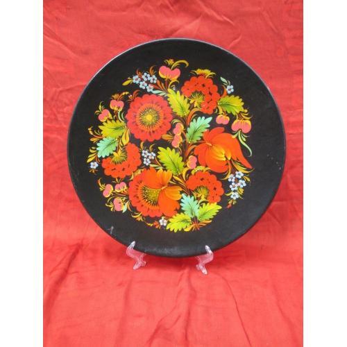 Настенная большая тарелка сувенир Хохлома
