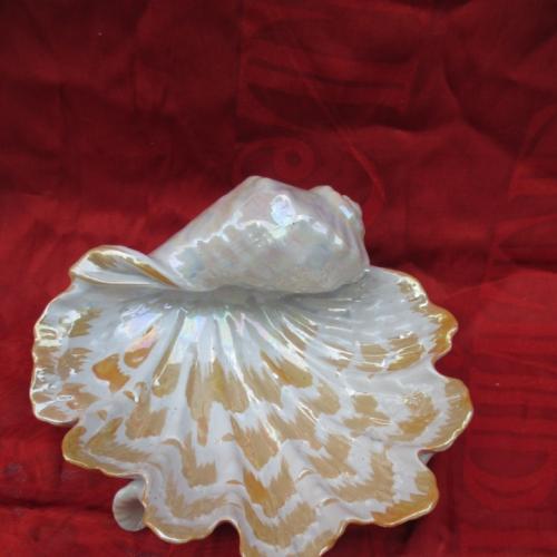 Ракушка конфетница фруктовница ваза фарфор