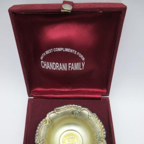 Тарелка Пиала свадебная Индия серебро
