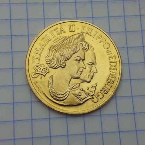 Жетон Елизавета II Филиппо ди Эдимбурго