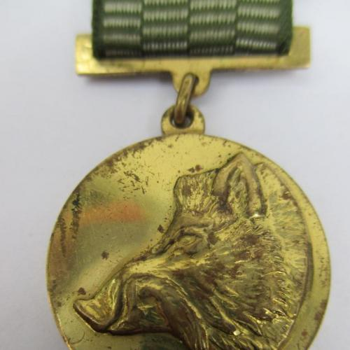 Знак медаль лесное хозяйство охота Кабан развитие УССР