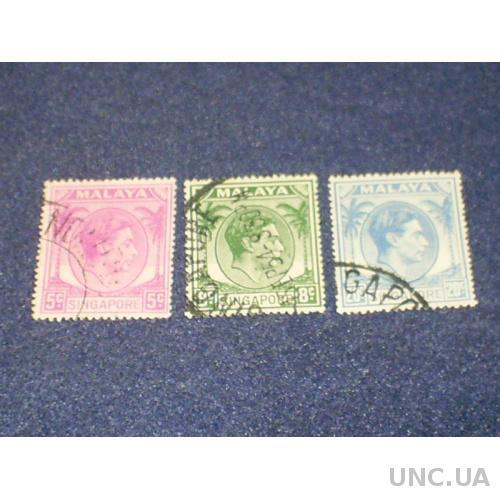 Брит. Сингапур-1948/52 г.-Георг-6