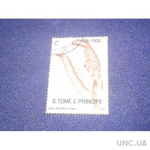Сан-Томе и Принсипи-1992 г.-Птица 6 евро