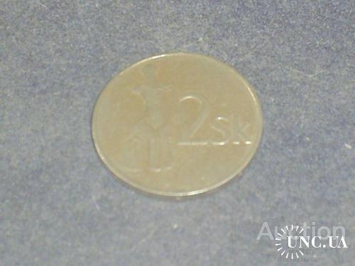Словакия-1993 г.-2 коруны