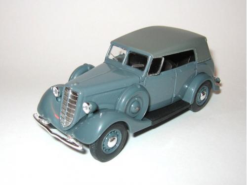 ГАЗ М1 фаэтон с тентом, серый, Наш Автопром H158a 1:43 коробка
