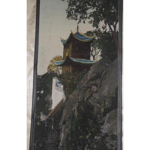 Гобелен шелковый Великая китайская стена Китай 1940-е годы