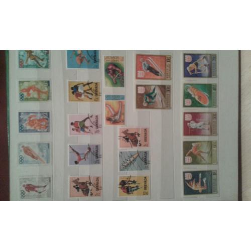"""Альбом почтовых марок разных стран мира.Тематика """"спорт"""""""
