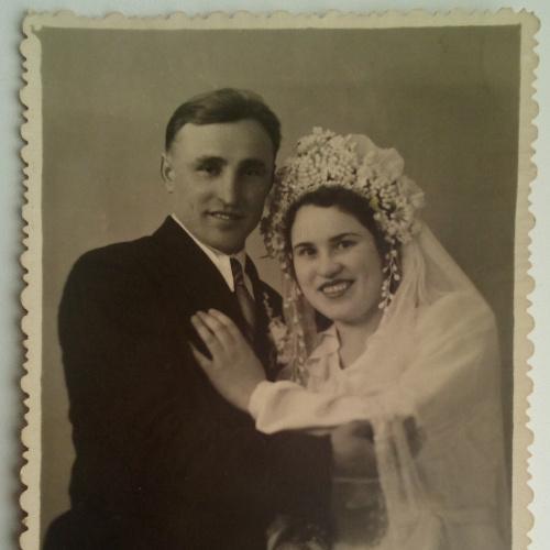 Фото. Свадьба  Молодые Влюбленные Жених  Невеста  Платье Костюм 1954г