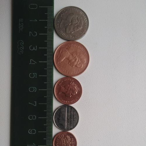 Монеты Англии, Нидерландов, Дании