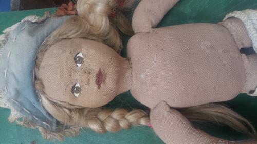 Старая кукла.папье маше.