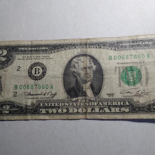 2 доллара 1976 г.