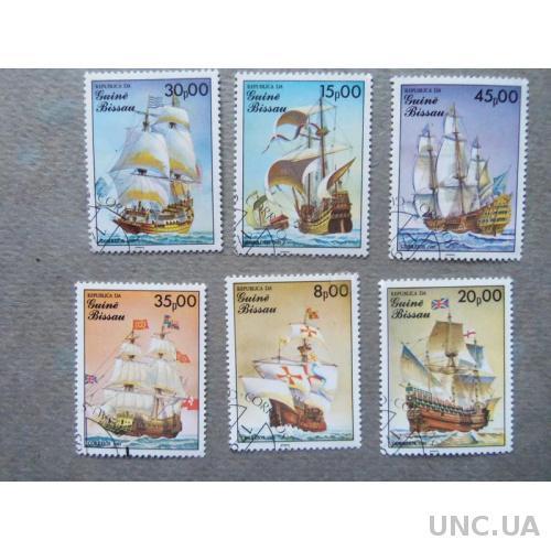 марки-Гвинея Бисау- парусники-6маркa(А2) 1985г