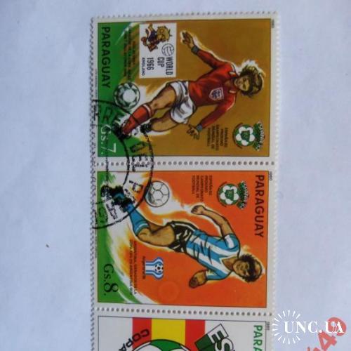 марки-Парагвай с 1 гр 1982г (к5) 3 марки-сцепка