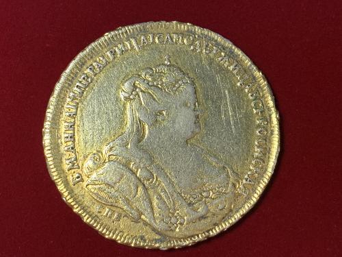 Рубль 1738 года (петербургский тип, СПБ под рукавом). Биткин #234 (R)