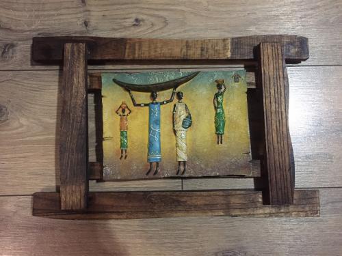 Картина из дерева Африканская семья