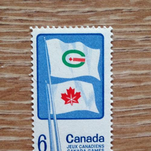 Марка Канада флаги