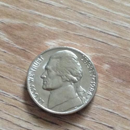 Монета 5 центов США (1984)