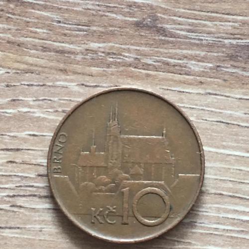 Монета Чехия 10 крон 1993 г.