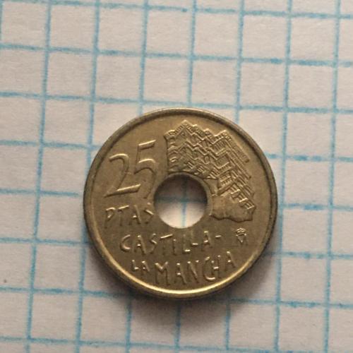 Монета Испания 25 песет, 1996 Кастилия - Ла-Манча