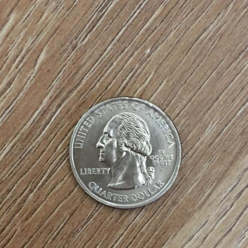 Монета США 25 центов Alaska 2008