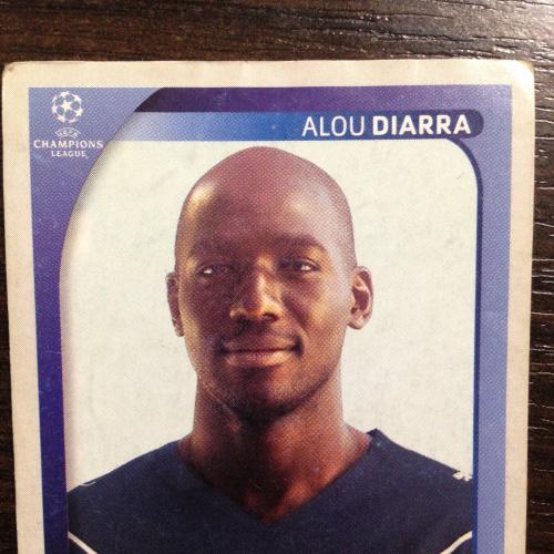 Наклейка. Alou Diarra. Champions League 2008-2009. PANINI.