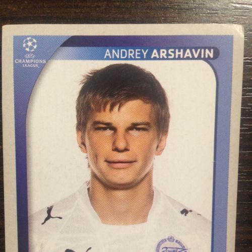 Наклейка. Andrey Arshavin.  Champions League 2008-2009. PANINI.