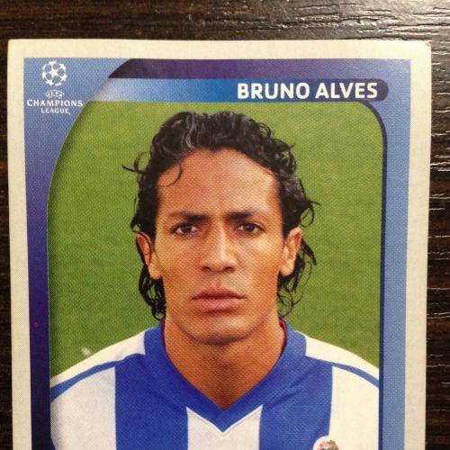 Наклейка. Bruno Alves. Champions League 2008-2009. PANINI.