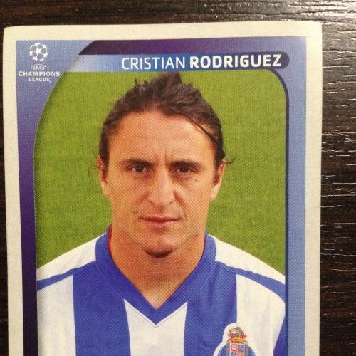 Наклейка. Cristian Rodriguez. Champions League 2008-2009. PANINI.