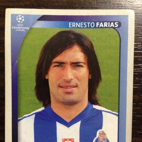 Наклейка. Ernesto Farias. Champions League 2008-2009. PANINI.