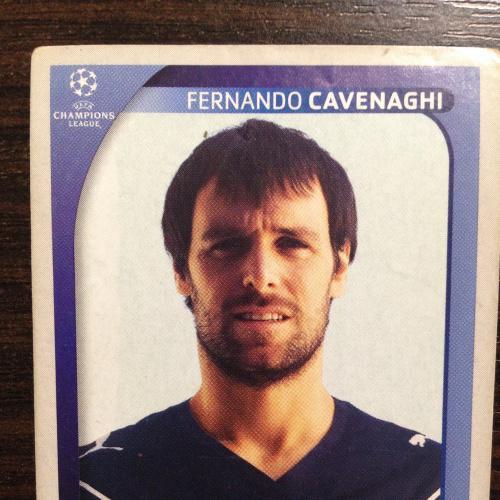 Наклейка. Fernando Cavenaghi. Champions League 2008-2009. PANINI.