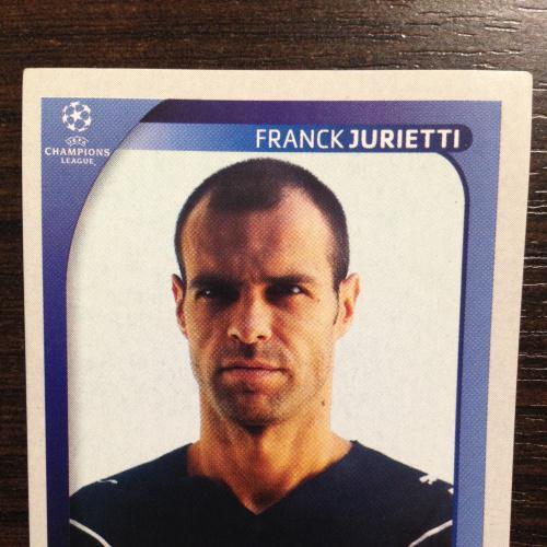 Наклейка. Franck Jurietti. Champions League 2008-2009. PANINI.