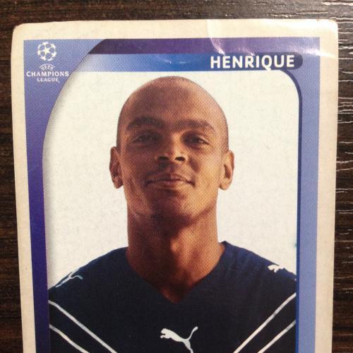 Наклейка. Henrique. Champions League 2008-2009. PANINI.