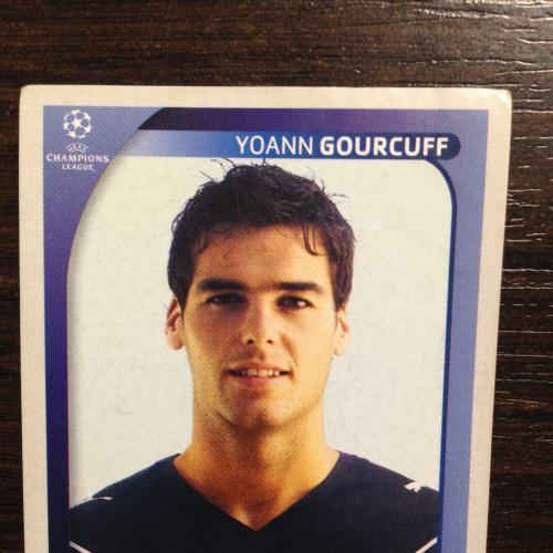 Наклейка. Ioann Gourcuff. Champions League 2008-2009. PANINI.