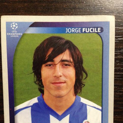 Наклейка. Jorge Fucile. Champions League 2008-2009. PANINI.