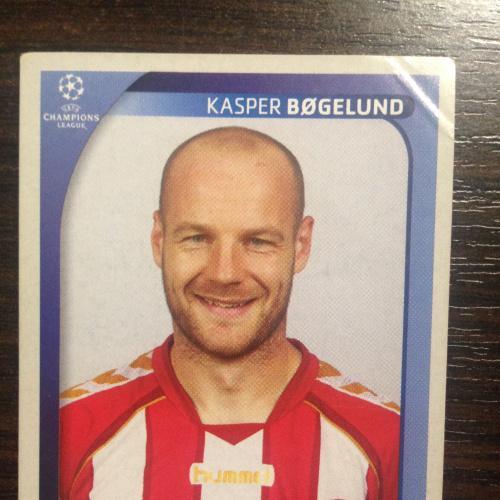 Наклейка. Kasper Bogelund.  Champions League 2008-2009. PANINI.