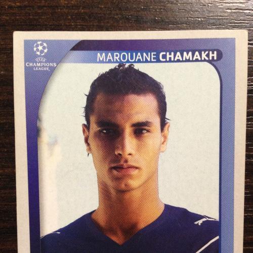 Наклейка. Marouane Chamakh. Champions League 2008-2009. PANINI.