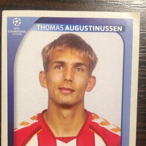 Наклейка. Thomas Augustinussen.  Champions League 2008-2009. PANINI.