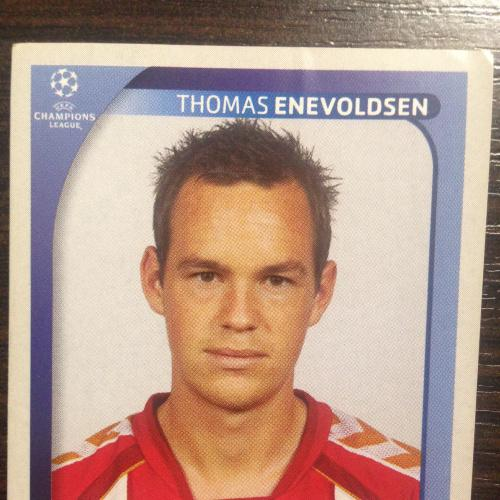 Наклейка. Thomas Enevoldsen.  Champions League 2008-2009. PANINI.