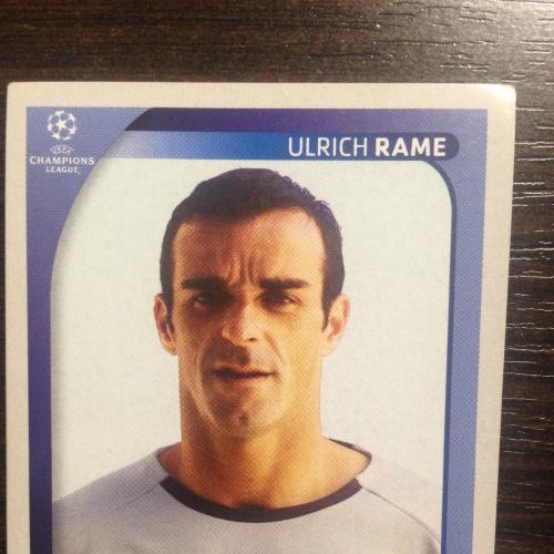 Наклейка. Ulrich Rame.  Champions League 2008-2009. PANINI.